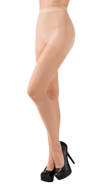 Cuban Heel Tights - Nude