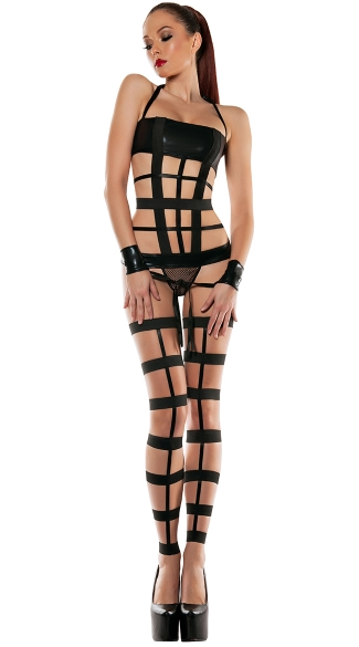 Strapped Down Bondage Set - Black