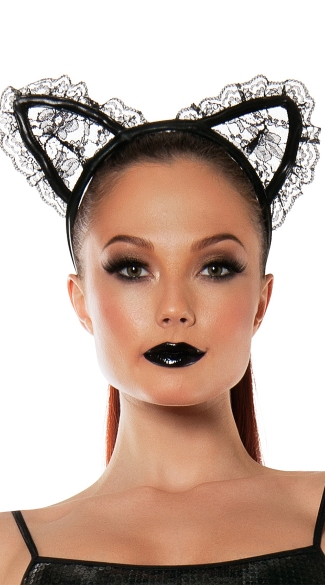 Lace Cat Ears - as shown