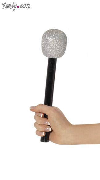 Costume Microphone - Silver/Black