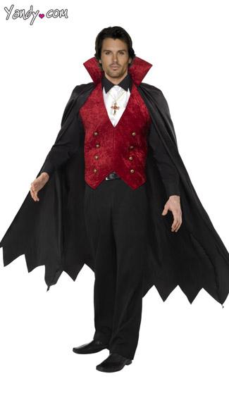 Vampire Cape and Vest - Black/Red