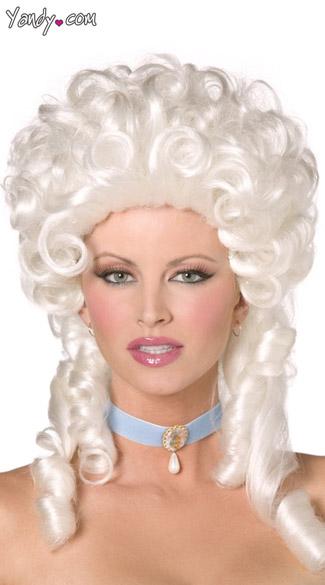 Baroque White Wig - White