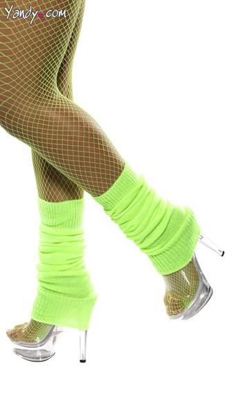 Neon Green Leg Warmers - Neon Green