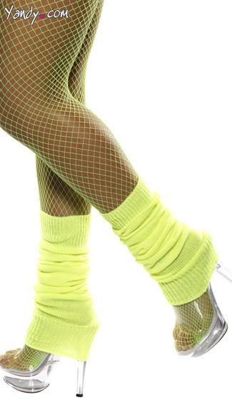 Neon Yellow Leg Warmers - Neon Yellow