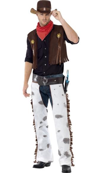 Men's Western Cowboy Costume - Brown