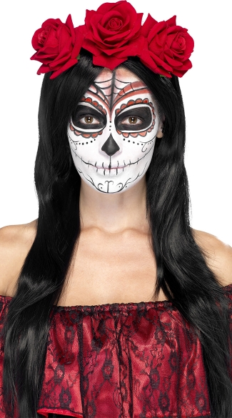 Day of the Dead Headband - As Shown