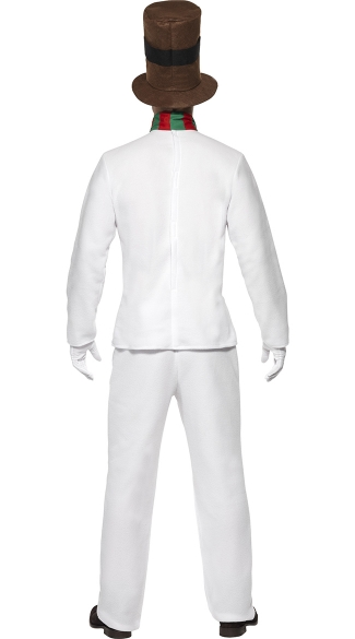 Men's Let It Snow Mr. Snowman Costume - White