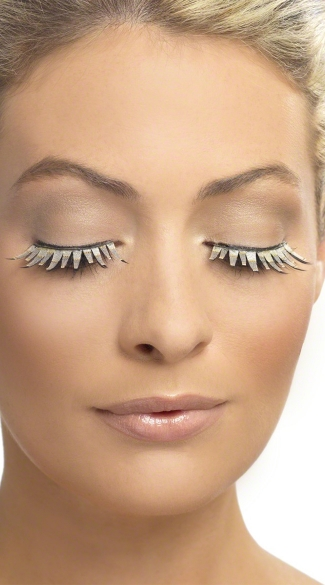 Fabric Stripped Eyelashes, Fabric Eyelashes, Black and Nude Eyelashes
