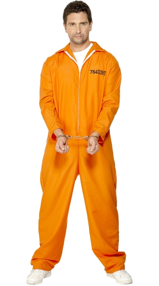 Menu0027s Bad Boy Convict Costume  sc 1 st  Yandy & Menu0027s Bad Boy Convict Costume Orange Prison Jumpsuit Costume