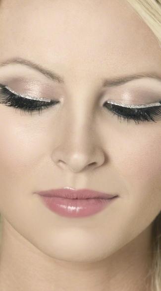 Silver Glitter Diva Eyelashes - Silver