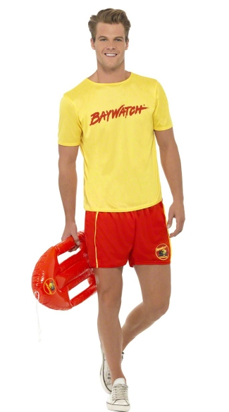 Baywatch Dude Costume, Baywatch Men\'s Costume, Baywatch Show Costume