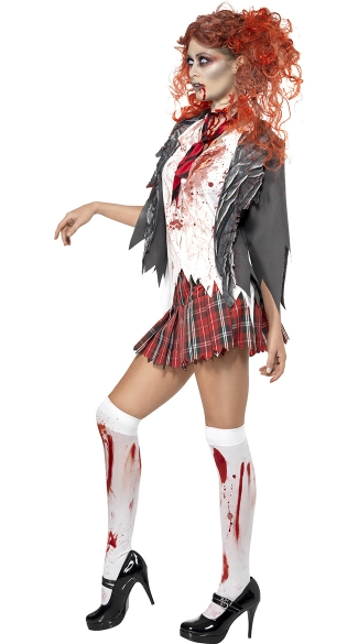 Living Dead Zombie Schoolgirl Costume - As Shown