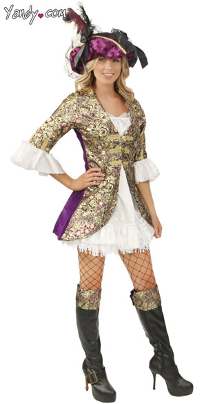 Bombshell Buccaneer Beauty Dress Buccaneer Pirate Costume With Metallic Gold.  sc 1 st  Yandy & Bombshell Buccaneer Beauty Dress Buccaneer Pirate Costume With ...