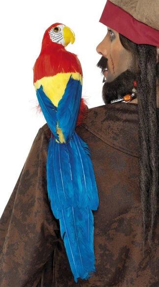 Lifelike Parrot Accessory, Fake Parrot, Pirate Parrot Accessory