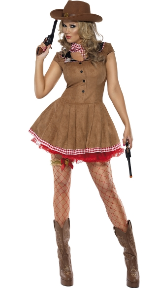 Wild West Cowgirl Costume, Cowgirl Costume, Sexy Sheriff Costume