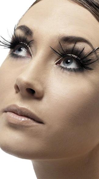 Black Plume Eyelashes - Black