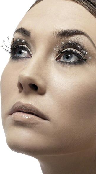 Black Eyelashes with Droplets - Black