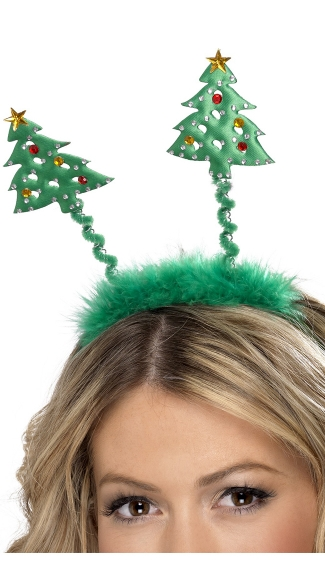 Christmas Tree Headband Bopper - Green