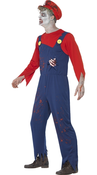 Men's Zombie Neighborhood Plumber Costume - As Shown