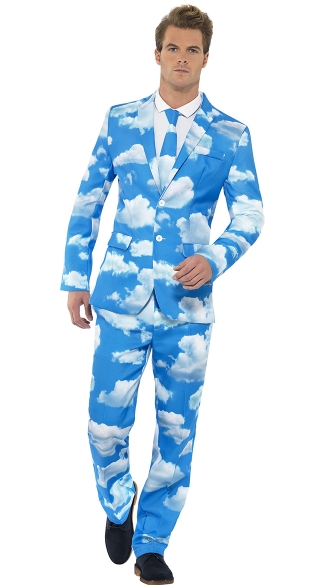 Sky High Men's Costume Suit - As Shown