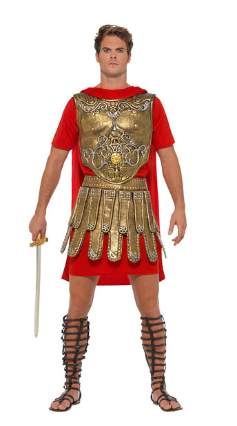 Men's Roman Gladiator Costume - As Shown