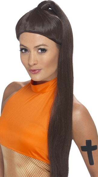 Sporty Pop Ponytail Wig, Pop Star Costume, Wigs For Women