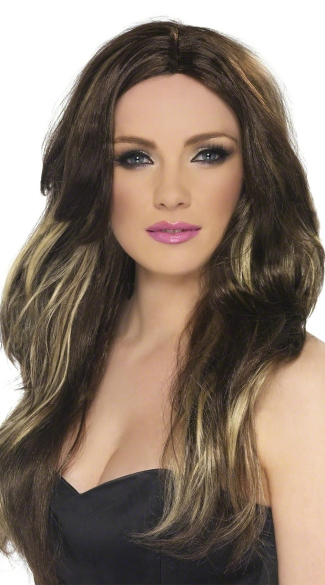 Brown and Blonde Temptress Wig, Wavy Wig, Long Wavy Wig