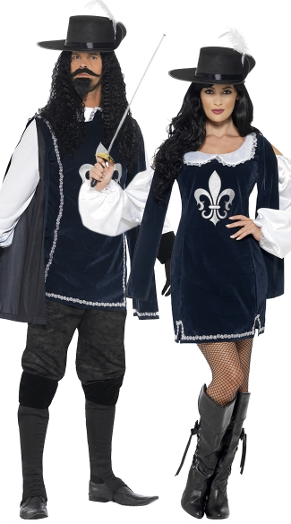 Musketeers Couples Costume - as shown