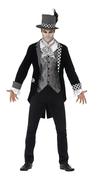 Men's Deluxe Dark Hatter Costume - As Shown
