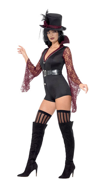 Fever Vampire Costume - As Shown