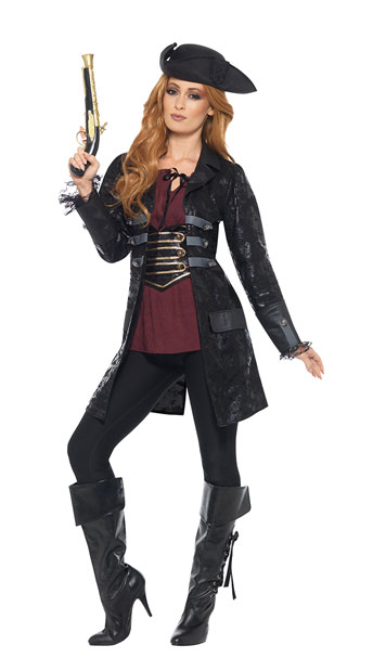 Black Pirate Jacket - As Shown