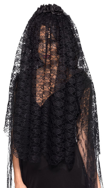 Black Widow Veil - As Shown