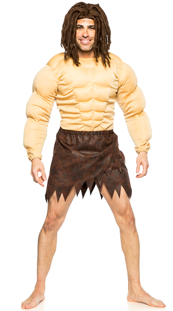 Men's Jungle Warrior Costume - As Shown