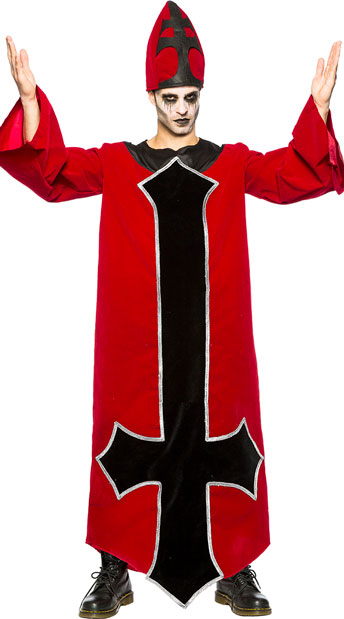 Men's Evil Bishop Costume - As Shown