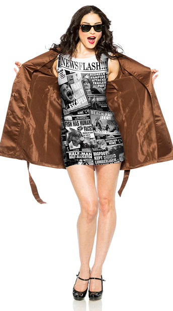 News Flash Costume - As Shown