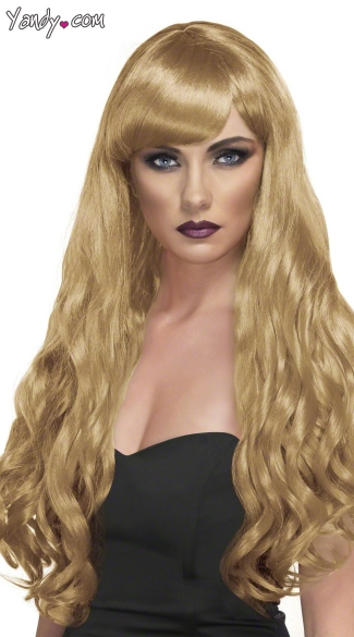 Long Blonde Curled Wig - Blonde