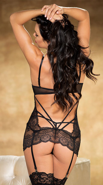 Show Me Yours Chemise Set - Black