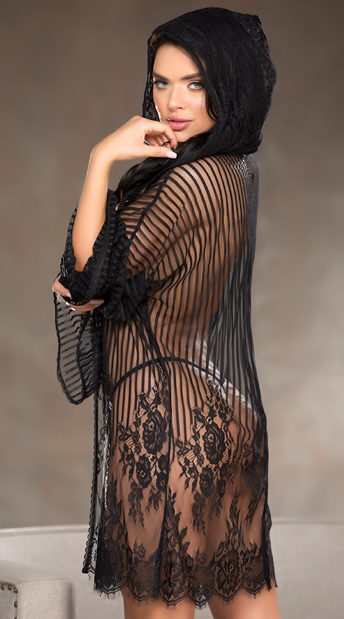 Conceal Me Robe Set - Black