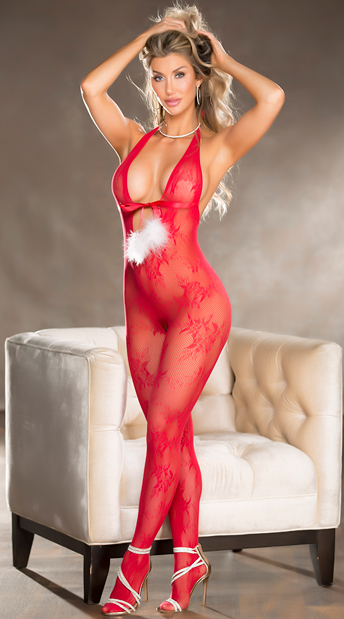 Lay It On Me Bodystocking - Red