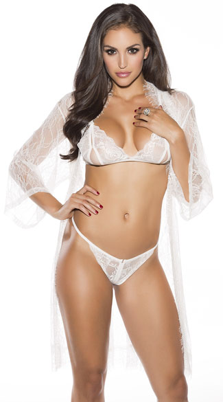 d3e1d621225 Lace Robe Set - Ivory