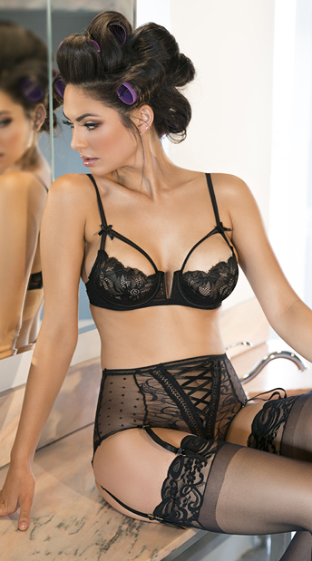 0aac26bb354 High Waisted Lace Bra Set