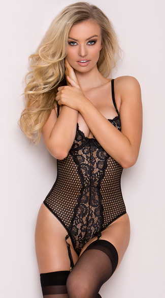 Midnight Net Teddy - Black