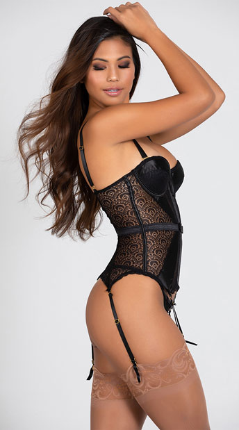 Pleasure Principle Bustier Set - Black