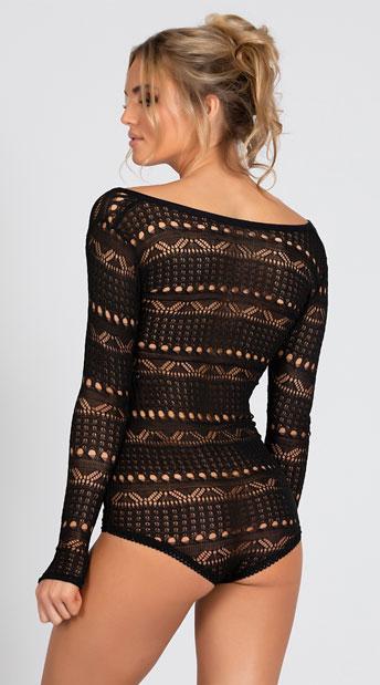 Cozy Sweater Romper - Black