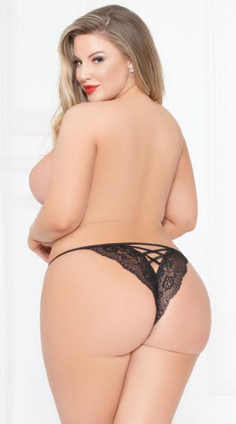 Plus Size Pretty Prestige Panty - Black