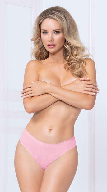 Shadow Stripe Bonded Thong - Pink