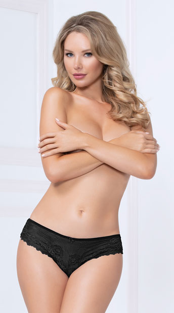 Dreamy Days Cut-Out Panty - Black