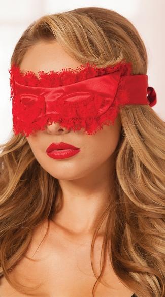 Glamorous Eyelash Mask - Red