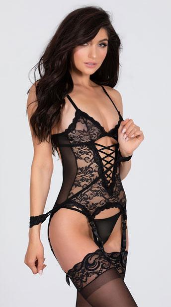 Midnight Affair Camisole Set - Black