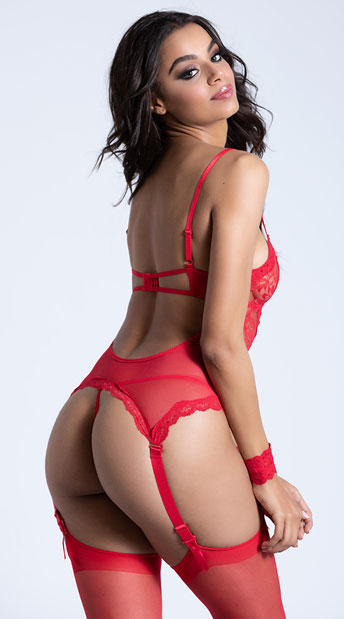 Midnight Affair Camisole Set - Red